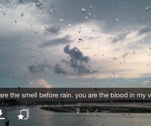 rain, quote, and snapchat image