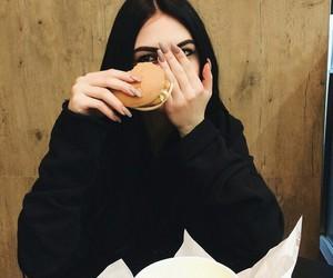 girl, food, and icon image