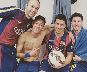 messi, iniesta, and neymar image
