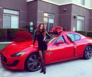 car, red, and gift image