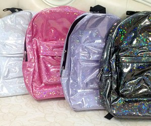 bag, colorful, and glitter image