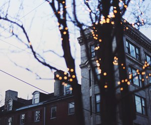 house, lights, and new york image
