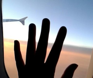 forever, hand, and plane image