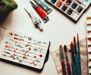 art, flowers, and vintage image