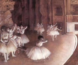edgar degas, art, and ballet image