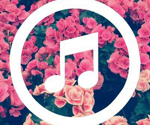 flowers, music, and love image