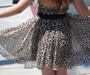 dress, fashion, and leopard image