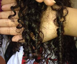 curly, hair, and mine image