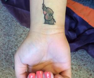 tattoo, elephant, and elefante image
