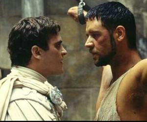 gladiator, Maximus, and commodus image