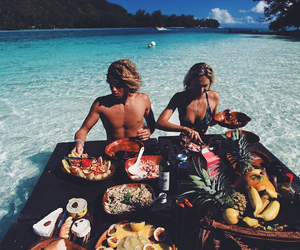 adventure, couple, and food image