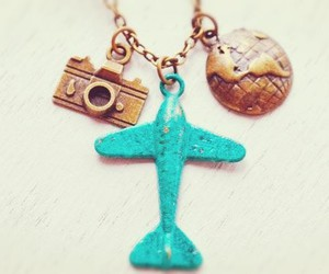 accessories, traveler, and airplane image