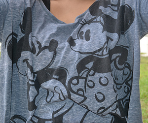photography, shirt, and mickey image