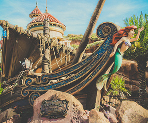 ariel, castle, and disney world image
