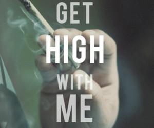 high, weed, and smoke image