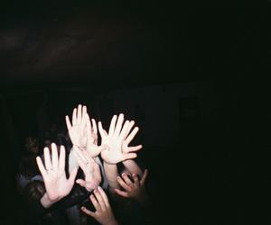 grunge, hands, and dark image