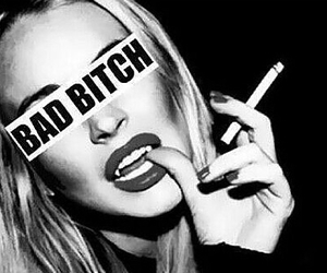 bitch, bad, and cigarette image