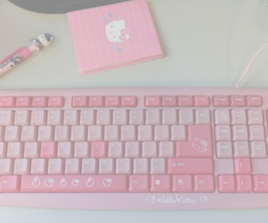 pink, pastel, and hello kitty image