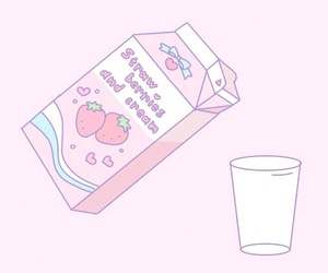 gif, milk, and pink image