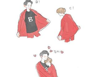 exo, cute, and fanart image