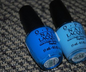 blue, opi, and nails image