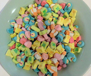 lucky charms, food, and marshmallow image