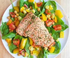 salad, fit, and food image