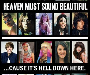 music, hell, and heaven image