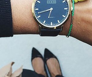 black, street style, and watch image