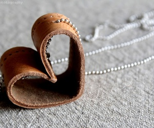 diy, heart, and leather image