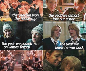 harry potter, weasley, and sad image
