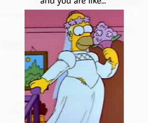 love, funny, and homer image