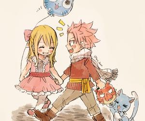 anime, happy, and natsu dragneel image