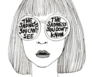 sadness, drawing, and quotes image