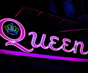 Queen, light, and neon image