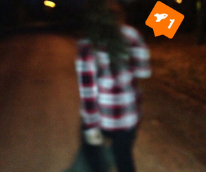 blurry, plaid, and walking image