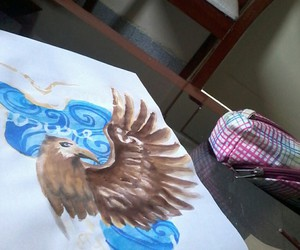 artsy, blue, and drawing image