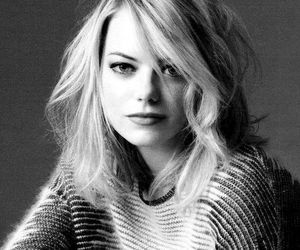 emma stone, black and white, and actress image