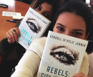 kylie jenner, kendall jenner, and book image