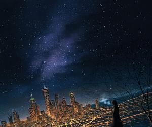 art, night, and city image