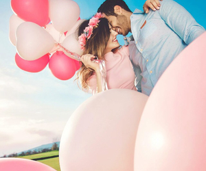 blue, kisses, and pink image