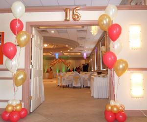 balloons, decor, and quince image