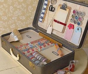 suitcase, vintage, and diy image