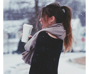 girl and snow image