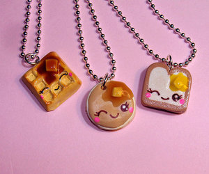 cute, necklace, and food image