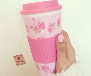 pink, girly, and tea image