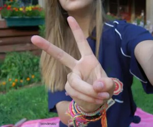 girl, peace, and tumblr image
