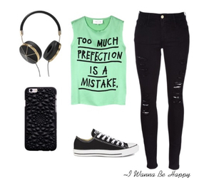 clothes, converse, and headphones image
