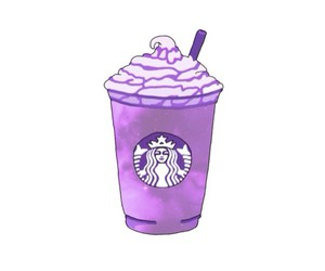starbucks, drawing, and purple image