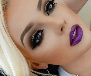 makeup, make up, and purple image